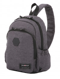 Рюкзак SWISSGEAR 13'', cерый, ткань Grey Heather/ полиэстер 600D PU , 25х14х35 см, 12 л SA2608424521